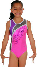 "New Gymnastic Snowflake Pink Sublime Leotard Age 11-13 (32"")"