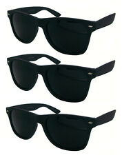 Wholesale Lots 12 Pairs Wayfarer Sunglasses With Super Dark Lens & Glossy Finish