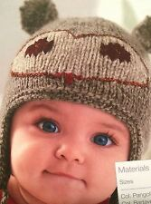 Baby's Owl Hat ( 1- 6 months) Knitting Pattern