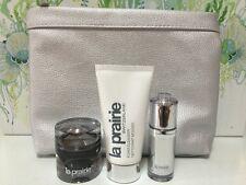 4 PC- La Prairie Cellular Platinum Rare , Serum, Foam , Bag Gift Set Lot