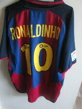 2003-2004 Barcelona Ronaldinho 10 Home Football Shirt Size XL mans /34659