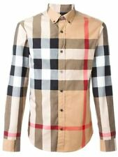 BURBERRY BRIT MEN SHIRT BEIGE NEW WITH TAGS SHIP TO WORLDWIDE