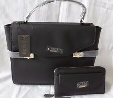 AUTHENTIC NEW NWT GUESS GRACIE SATCHEL BAG PURSE WITH MATCHING ZIP AROUND WALLET