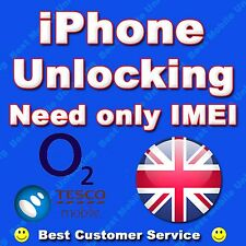 UNLOCKING OF IPHONE 3GS 4 4S 5 O2 UK TESCO UK FOR ALL PLANS 'NOT FOR BARRED'