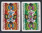 #915.207 vintage swap card -EXC pair- Embroidered wool pattern