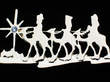 CHRISTMAS STAR BETHLEHEM MANGER CRECHE BABY JESUS 3 THREE WISE MEN PIN BROOCH