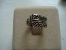 Spoon Ring Oneida Community Pinky Ring Size 3 Silvertone
