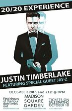 "JUSTIN TIMBERLAKE/JAY-Z ""20/20 EXPERIENCE""2014 NEW YORK CITY CONCERT TOUR POSTER"