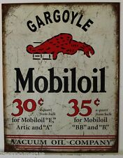 MOBILGAS Metal Sign Pegasus mobil oil gas gasoline socony weathered look 2167