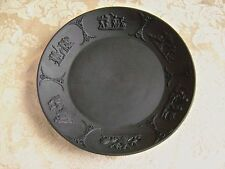 ANTIQUE WEDGWOOD BLACK BASALT JASPERWARE PLATE