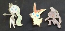 Pokemon Mythical Genesect, Victini, Meloetta Collector PINs NEW Generations