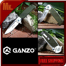 Authentic GANZO G752-2 | G7522 GR | 440C G10 + Steel Handle | Folding Knife
