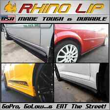 Flexible Rubber Side Skirt Rocker Panel Chin Spoiler Under Panel Lip Splitter *