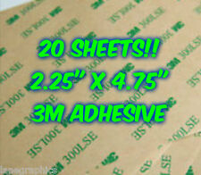 20 SHEETS 3M 300LSE Industrial Double Sided Adhesive Cardmaking Crafts Glass Cut