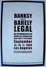 Banksy Sign Barely Legal A4 Sign Aluminium Metal