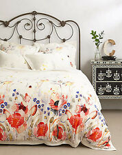 Anthropologie Garden Buzz Queen Duvet Cover with 2 Standard Shams