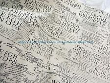 "US SELLER - 1 yard vintage newspaper 59"" wide cotton linen sewing fabric"