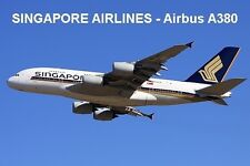 SOUVENIR FRIDGE MAGNET of an AIRBUS A380 - SINGAPORE AIRLINES