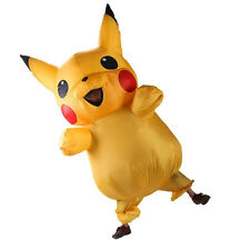 US SHIP! Adult Mascot Pikachu Inflatable Costume Cosplay Halloween Xmas Gift
