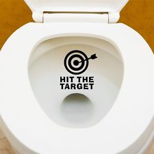 HIT THE TARGET DIY Toilet Seats Art Wall Stickers Quote Bathroom Decal GA