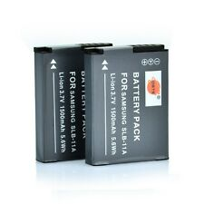 DSTE 2x 1500mAh SLB-11A Battery for Samsung WB5000 ST5500 TL240 TL320 ST1000