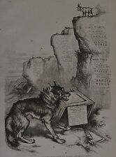 Harper's Weekly, 1876. Thomas Nast. Governor Tilden's Wolf. Wood Engraving.