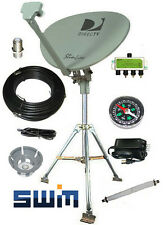 DirecTV SWM SL3S Portable Satellite RV Kit for Camping or Tailgating with Tripod