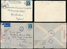 GB USED in EGYPT 10d KG6 AIRMAIL POW+ CENSORS...2 ENVELOPES