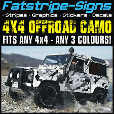 4x4 OFFROAD CAR CAMO GRAPHICS STICKERS DECALS CAMOUFLAGE DEFENDER DISCOVERY JEEP