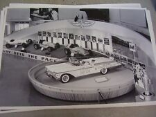 1957 MERCURY INDY PACE CAR  & RACE CARS DISPLAY  12 X 18  PHOTO  PICTURE