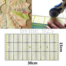 30cm x 15cm Quilting Patchwork Ruler Premium Rotary Craft Rectangle Metric Tool