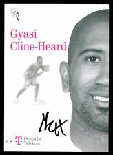 Gyasi Cline-Heard Autogrammkarte Telekom Baskets Bonn 2006/07 Orig Sign+52412