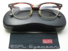 Ray Ban Clubmaster Optics Glasses RB RX 5154 2372 Gold Tortoise Havana 49-21 NEW