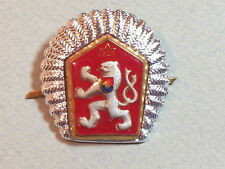 Czechoslovakia Czech Republic Military Army NCO Pin Badge Hat Insignia Officer