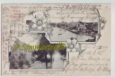 Gruss aus Oldersum die Burg Siel 1902 Bahnpost 636  Ostfriesland  Moormerland
