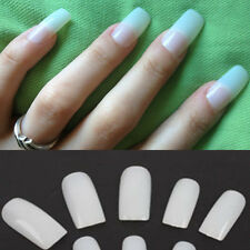 500pcs Nail Art Artificial False Full Tips Acrylic UV Natural Manicure Pedicure
