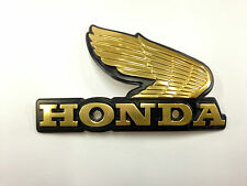 Honda Wing Metal Gas Tank Emblem Gold Right Side