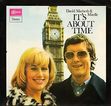 DAVID MACBETH AND MERELLE it's about time PLP 0002 uk pinnacle 1974 LP PS EX/VG+