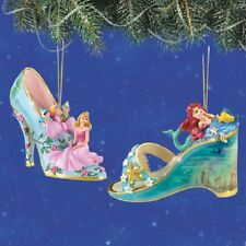 Disney's Once Upon a Slipper Ornaments - Sleeping Beauty and Ariel  set 3
