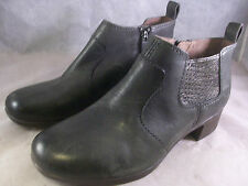 DANSKO WOMEN'S LOLA ZIPPER ANKLE BOOTS STONE LEATHER 38 8 MEDIUM $170