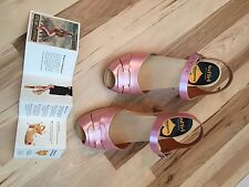 Swedish Hasbeens Pink Pearl Peep toe sandals size 38 (8 US) NEW BEAUTIFUL!