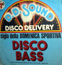 """SIGLA TV DELLA DOMENICA SPORTIVA  7"""" DISCO BASS 1977 D.D.SOUND (F.LLI LA BIONDA)"""