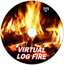 VIRTUAL CRACKLING LOG FIRE VIDEO DVD 9 GREAT COSY TV LOG FIRE SCENES TO VIEW NEW