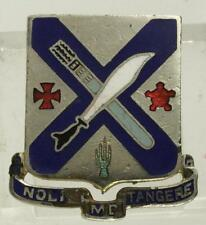 Vintage US MILITARY DUI Insignia Pin 2nd Infantry Regiment MOTTO Noli Me Tangere