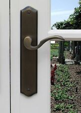 Privacy Door Handles Hardware Ambassador Left Hand Distressed Dark Bronze