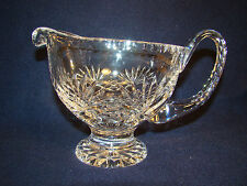 Crystal Footed Small Pitcher or Creamer Gravy Pitcher Holds 16 0z. #23