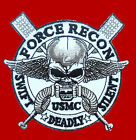 MARINE USMC FORCE RECON SWIFT DEADLY SILENT 3.5 INCH VELCRO PATCH