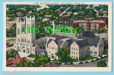 TX Fort Worth~FIRST METHODIST CHURCH 5th & Florence~Linen Postcard 40s/50s #6