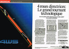 PUBLICITE ADVERTISING 054  1989  HONDA    F1 4WS  ( 2 pages)
