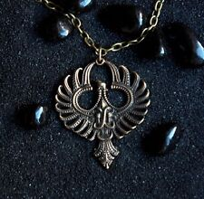 Phoenix (Firebird,Mythical bird, Garuda ) : Bronze Handmade Pendant with chain